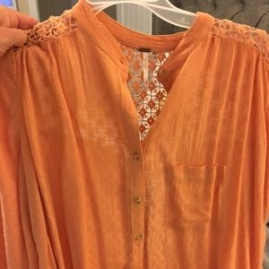Free People crochet blouse